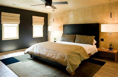 minimal japanese bedroom design idea  warm colors