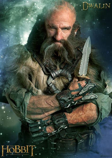 dwalin poster fan   hobbit fan art