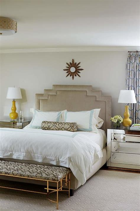 taupe bedroom  sleigh bed transitional bedroom