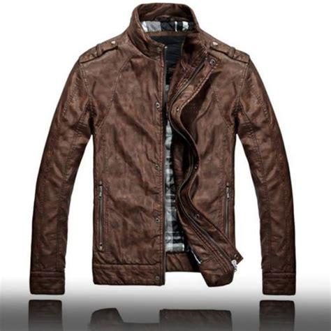 best leather motorcycle jacket vintage men leather motorcycle biker jacket brown top