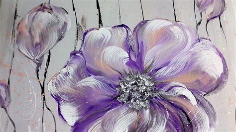 einfach malen blumen acrylmalerei easy painting