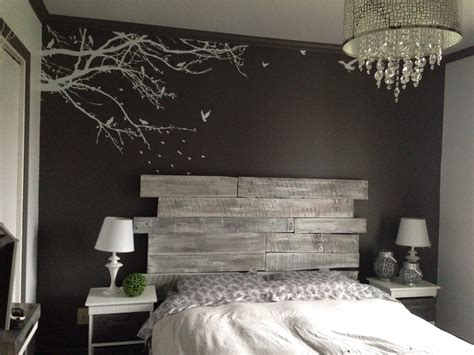 poster chambre diy bois tête de lit en bois réalisation claudie