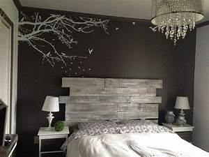 Lit En Bois : diy bois t te de lit en bois r alisation claudie ~ Melissatoandfro.com Idées de Décoration