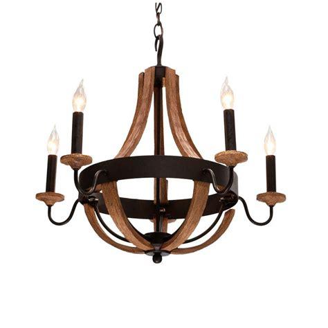 home lighting chandeliers hton bay talo 5 light driftwood chandelier 27215 the