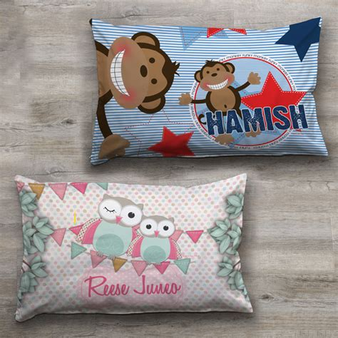 children s pillow personalised pillowcase pillow slip with a custom name