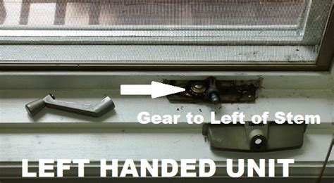 caradco casement window operator replacement crank part left  handing truth window hardware