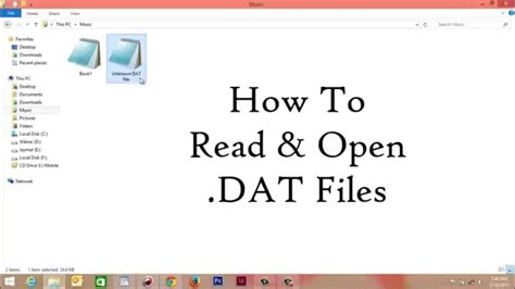 How To Open Dat File In Windows Youtube