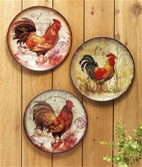 Decorative Chicken Plates - rainbow torch perennial plates metals and