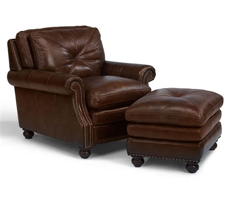 Flexsteel Leather Chair And Ottoman by Flexsteel Latitudes Suffolk Leather Chair And Ottoman