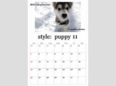 Printable Puppy Calendars templates for calendars to