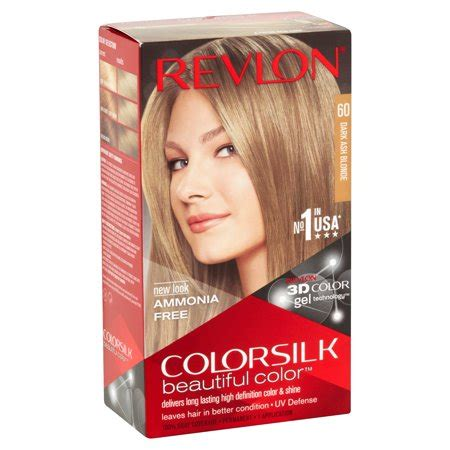revlon colorsilk beautiful color  dark ash blonde hair