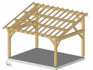 charpente pour garage charpente pas cher guehenno online With plan de petite maison 11 construction dun abri voiture et transformation du garage