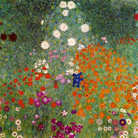 flower garden gustav klimt as print or painted