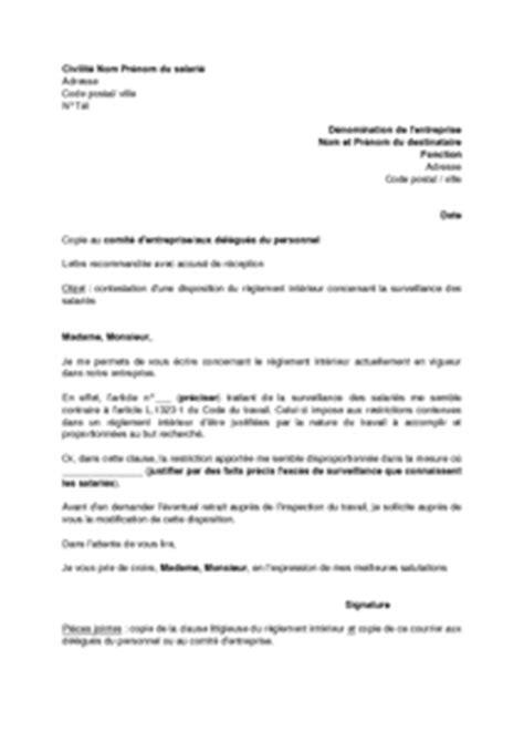 exemple gratuit de lettre contestation aupr 232 s employeur