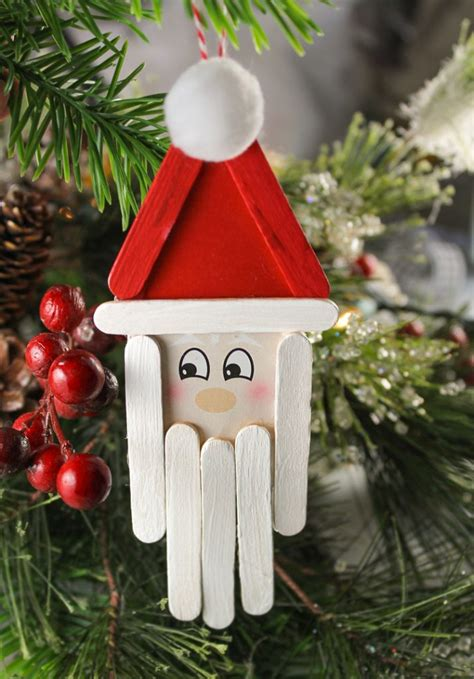 stylish christmas crafts popsicle stick santa craft for thecraftpatchblog