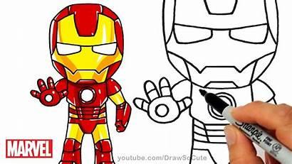 Iron Clipart Easy Drawing Cartoon Ironman Draw