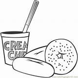 Breakfast Coloring Printable Tasty Healthy Clip Worksheet Results Material Paper sketch template