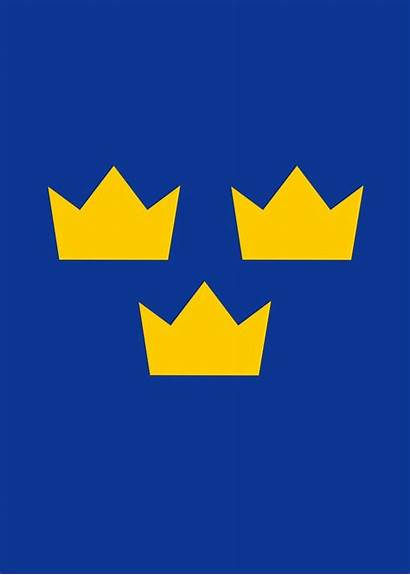 Kronor Crowns Tre Symbol Sweden Three Tattoo