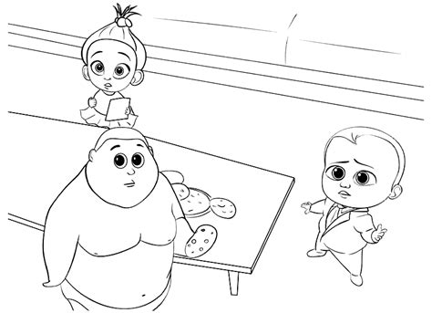printable  boss baby coloring pages