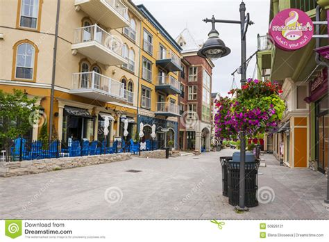blue mountain village in summer collingwood canada