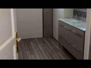 Salle De Bain Avant Après : avant apres travaux salle de bain youtube ~ Mglfilm.com Idées de Décoration