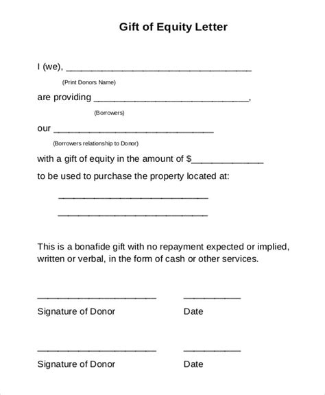 mortgage gift letter template gift letter sle template learnhowtoloseweight net