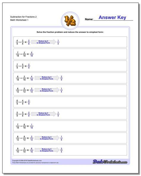 subtracting fractions  common denominator