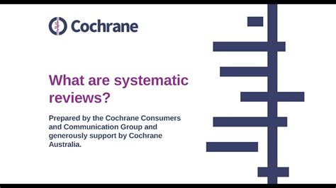 What Are Systematic Reviews?