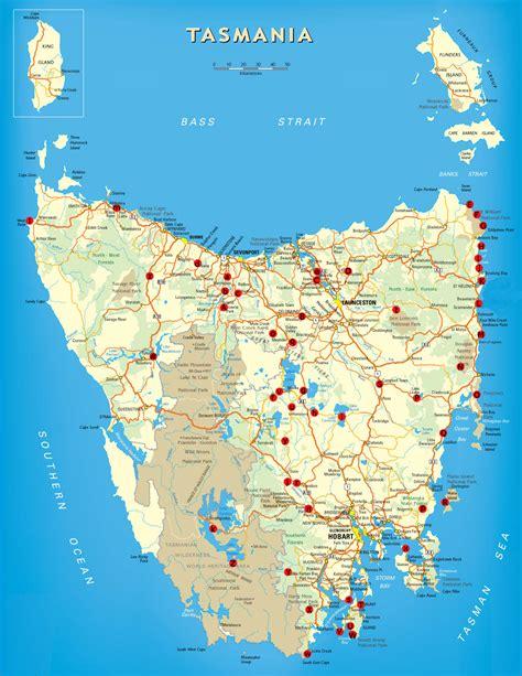 tasmania  maps