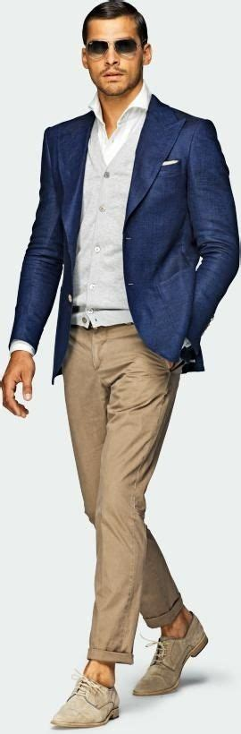Menu0026#39;s style Navy u0026 tan outfit with linen blazer jacket u0026 suede shoes | BROKE WITH EXPENSIVE ...