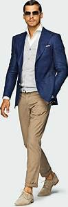 Menu0026#39;s style Navy u0026 tan outfit with linen blazer jacket u0026 suede shoes | Things to Wear ...