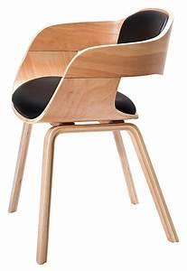 Chaise Bois Design : chaise bois cuir design le monde de l a ~ Teatrodelosmanantiales.com Idées de Décoration