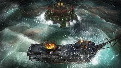 Ship Sea Abandon Forts Pirate Pirates Paper