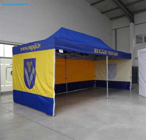 Alumīnija nojumes: Rugāju novada telts ir gatava lietošanai.
