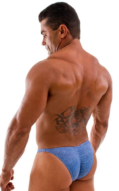 mens posing suit fitness swimwear fitted pouch bodybuilder scrunchie butt bikini