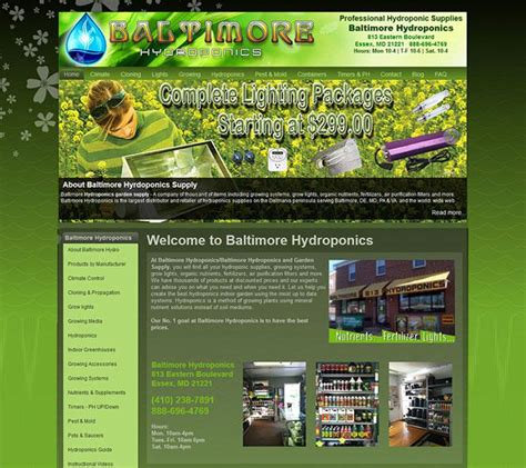 baltimore web design baltimore hydroponics delaware ecommerce website by