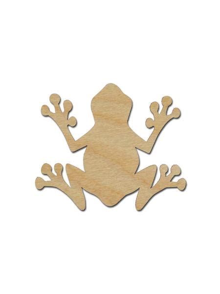 tree frog shape unfinished wood craft cutouts variety