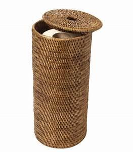 Panier Papier Toilette : accessoires wc osier ~ Teatrodelosmanantiales.com Idées de Décoration