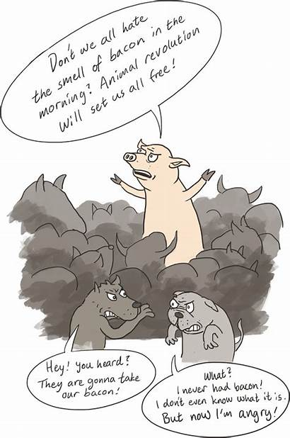 Snowball Farm Animal Pig Propaganda Revolution Trotsky