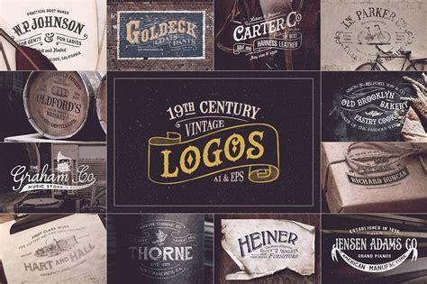 century vintage logos logo templates creative market