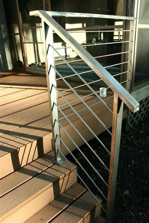 steel deck handrails simple stainless steel deck rails add a modern touch to