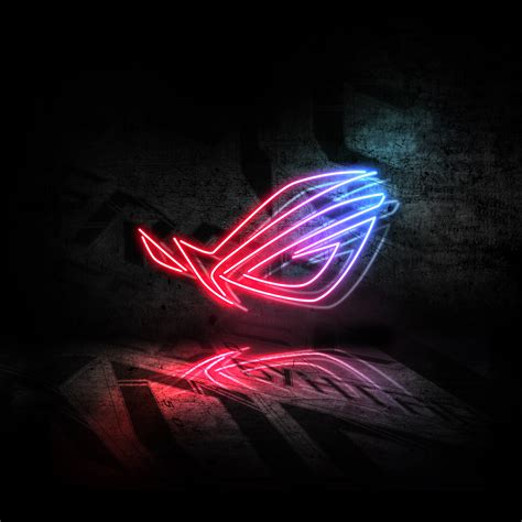 1680x1050 Rog Neon Logo 5k 1680x1050 Resolution Hd 4k