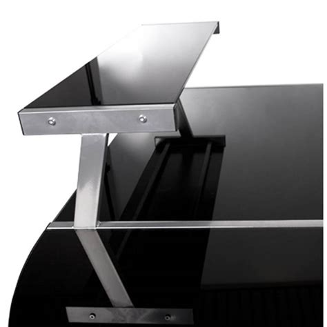 bureau acier et verre bureau d 39 angle design chili en acier et verre sécurit
