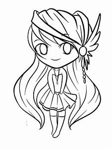 Cute Chibi Coloring Pages 675 Diys Pinterest Free