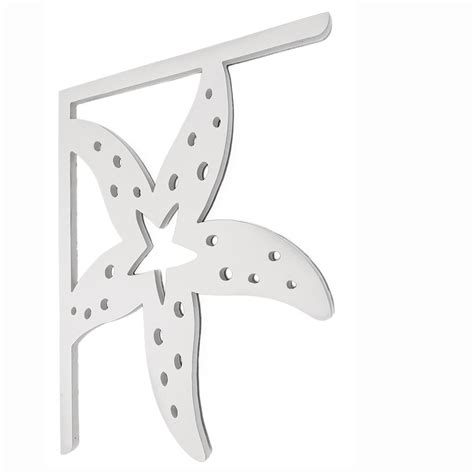 Pvc Porch Brackets by Nature Brackets Decorative 16 In Pvc Starfish Mailbox Or
