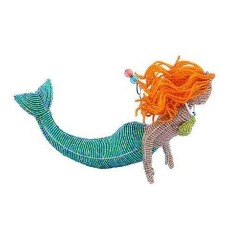 redhead mermaid glass beads beaded wire beadworx extol