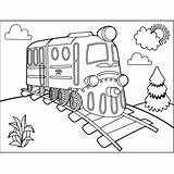 Train Track Railroad Coloring Trains Printable sketch template