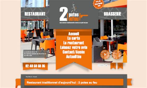 les 2 potes au feu cr 233 ation du site du restaurant traditionnel 2