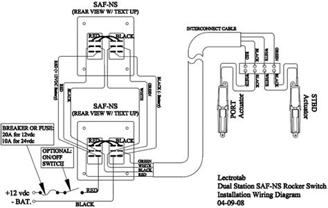 wiring diagram flat rocker switch saf s saf ns sf s
