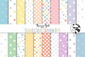 Seamless Pastel Rainbow Polka Dots ~ Patterns on Creative ...